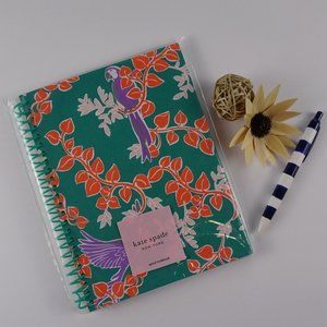 Kate Spade BIRD PARTY Green Spiral Notebook New